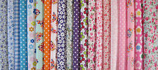 FABRIC LAYERCAKE SQUARES FLORAL SPOTS CRAFTS PATCHWORK SHABBY CHIC 25CM X 25CM