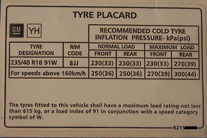 Holden-Commodore-18-034-Tyre-Placard-Label-Decal-VY-VZ-SS-VT-VX-VS-VR-VP-VN-VL-LS1
