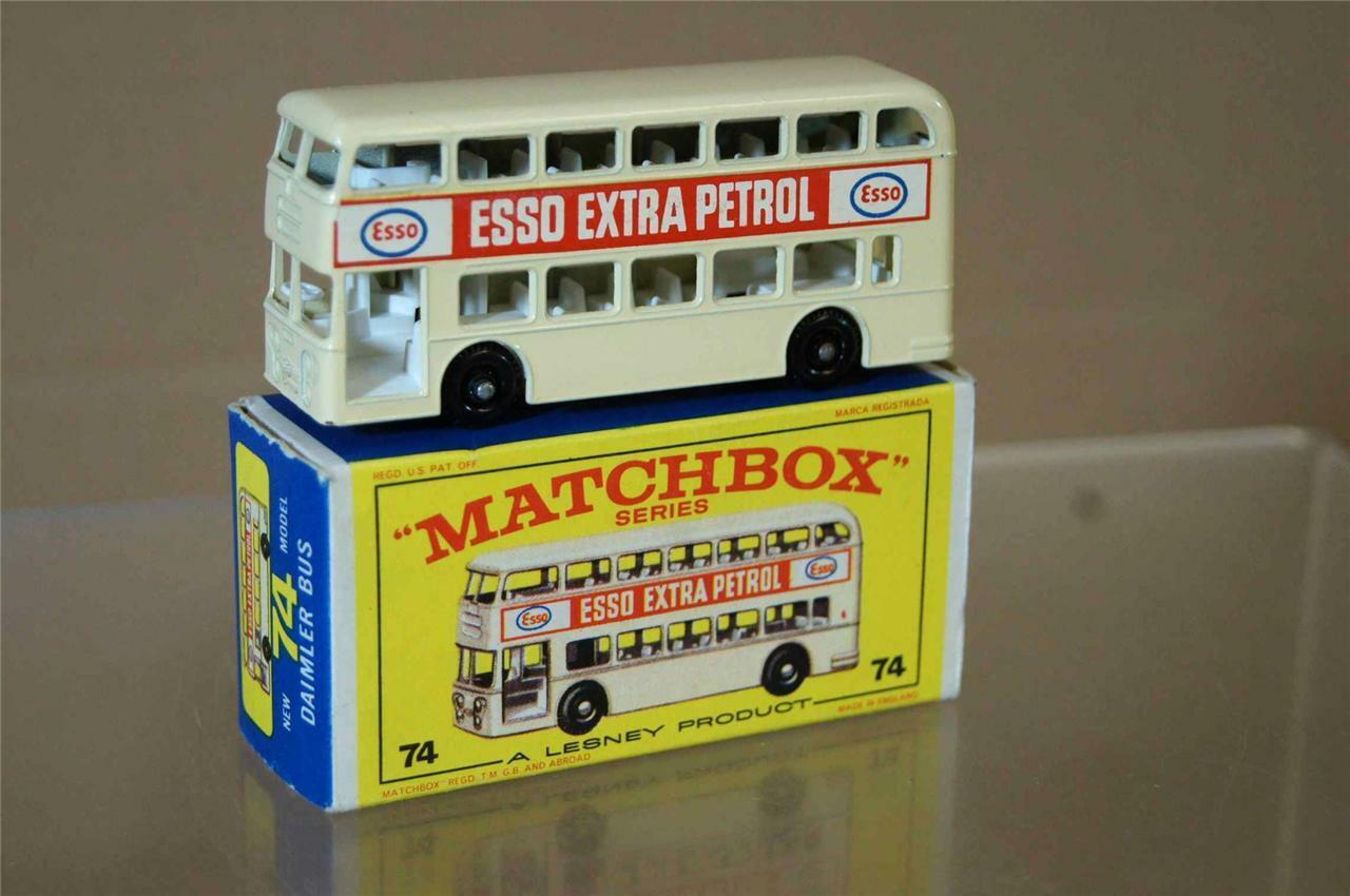MATCHBOX LESNEY 74 DAIMLER BUS ESSO EXTRA PETROL MINT BOXED mw