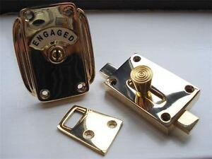 Brass Vacant Engaged Toilet Bathroom Lock Bolt Indicator Door Handles Ebay