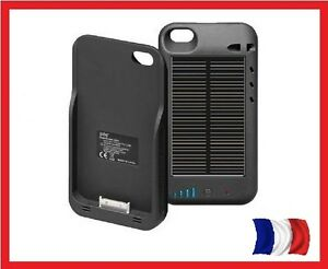 batterie chargeur solaire 2400 mah apple iphone 4 4s coque etui housse. Black Bedroom Furniture Sets. Home Design Ideas