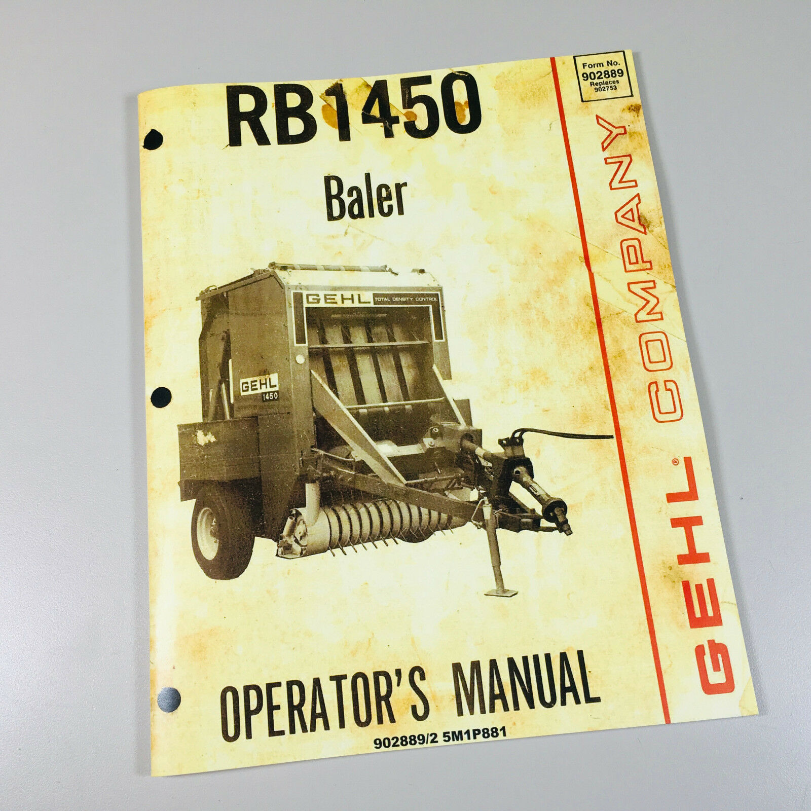 gehl rb1450 baler operators manual ebay rh ebay com