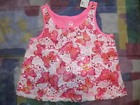 Justice Pink Butterfly Lace Crop Top Size 10