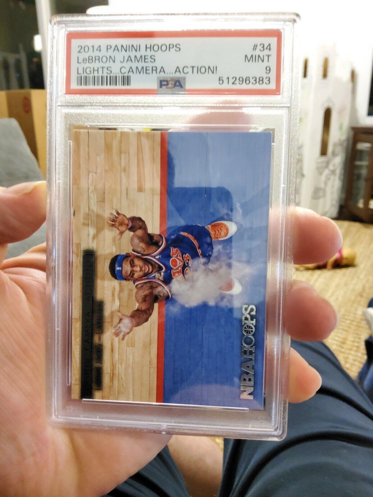 2014-15 Hoops | LeBron James [Cavaliers] | Lights Camera Action #34 | PSA 9 NEW