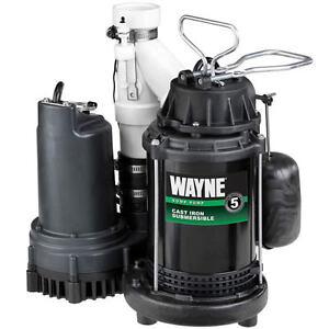 Wayne Wss30v 1 2 Hp Combination Primary And Backup Sump