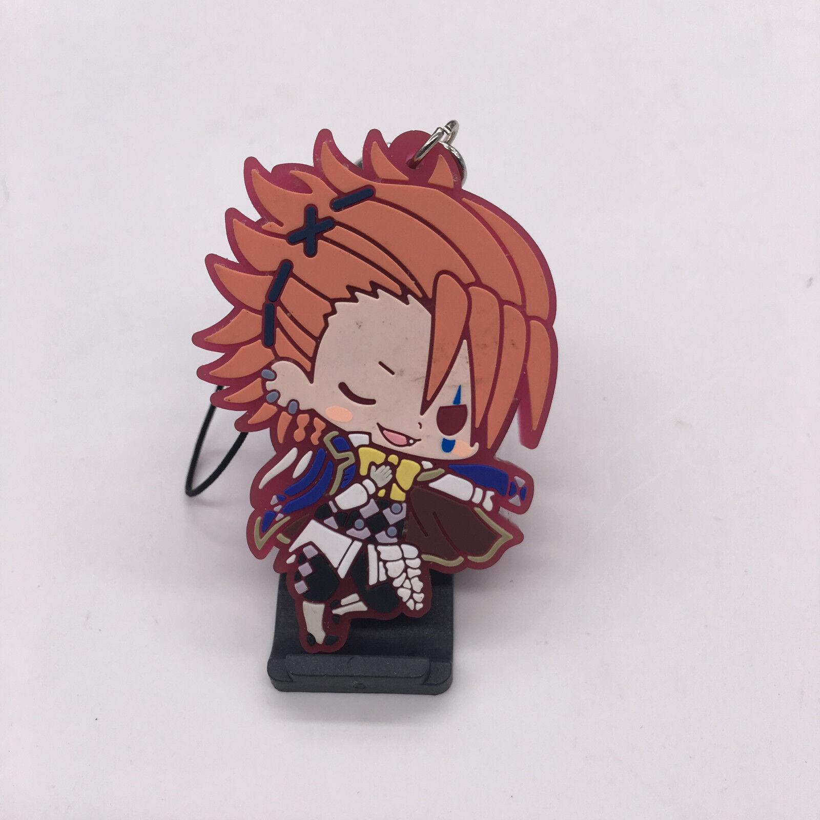 T417 10pcs//set Anime Black Butler Rubber Keychain Key Ring Schlüsselanhänger