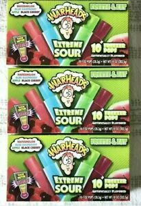 Warheads-10ct-Freezer-Ice-Pops-30-Total-Popsicles-New-Sealed-In-Box-lot-of-3