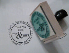 Custom Thanks from the Mr & Mrs wedding rubber stamp by Amazing Arts
