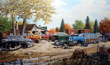"""Ken Zylla Junkyard Relics Old Time Art Print Signed and Numbered 30"""" X 18"""""""