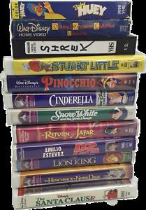 VHS-Disney-Classics-Movie-lot-of-12-Snow-White-Cinderella-Shrek-Lion-King