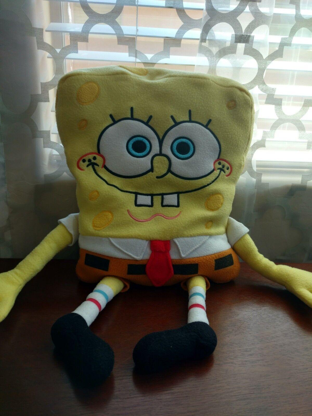 Spongebob Squarepants Happy SPONGEBOB Large Large Large BIG Jumbo 21  Plush Bed Pillow Doll 4393af
