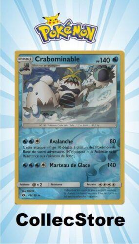 ☺ Carte Pokémon Crabominable REVERSE 43//149 VF NEUVE SL1 Soleil et Lune