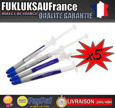 100% Verdadero 5x Seringues 1g Pâte Thermique Silver Argent Processeur Cpu Gpu ♣ N°1 En France Embalaje De Marca Nominada