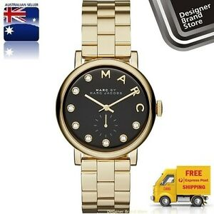 New-Marc-By-Marc-Jacobs-Watch-Baker-Dexter-Gold-Black-Glitz-Dial-MBM3421-EXPRESS