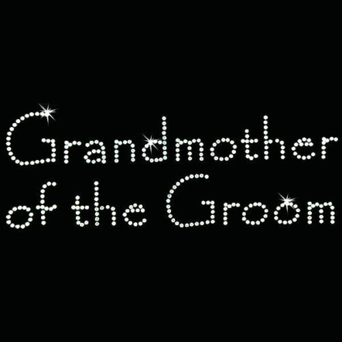 Rhinestone Transfer Papyrus Hot Fix Motif Grandmother of the Groom