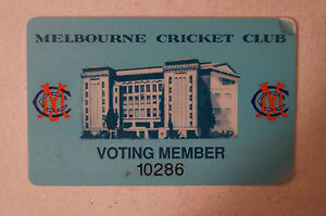 Cricket-Collectable-Melbourne-Cricket-Club-Plastic-Voting-Member-039-s-Pass