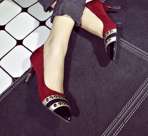 Bordeaux Donna 5 Cm Scarpe 8499 E Tacco Nero Decolté Rosso 6 Decolte ngIgqO