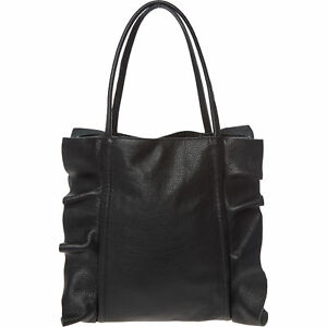 LAURA-DI-MAGGIO-Black-Genuine-Leather-Tote-Bag-rrp-160