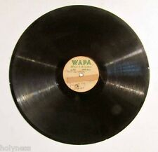 "ORIGINAL WAPA RADIO / 12"" ACETATE RECORD / 1940's / VERY RARE / PLAY TESTED"