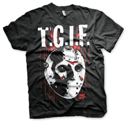 4XL Officially Licensed Friday The 13th- T.G.I.F 3XL 5XL Men/'s T-Shirt