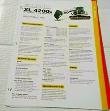 Factory Gradall Xl 4200 Ii Hydraulic Excavator Dealership Spec Brochure Guide