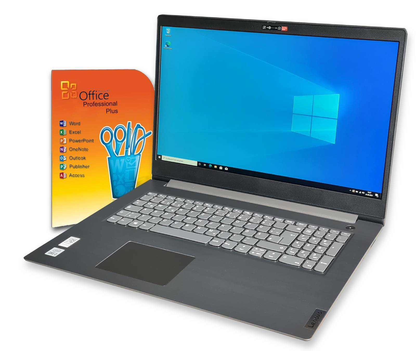 Notebook 17 Zoll Lenovo i3 / 8GB /512SSD IPS /Full HD / Win10 Pro / Office 2019