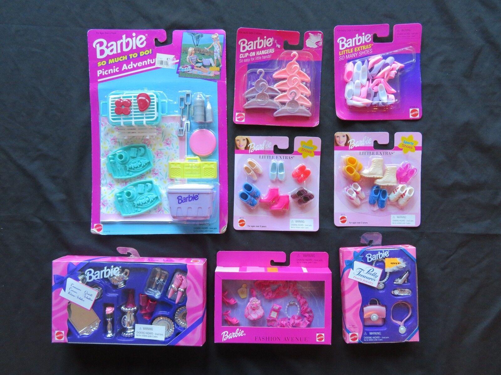 Nuovo Vintage 90s Barbie Accessorio Lotto  di Sautope Appendiabiti Extras Pretty  ordina ora con grande sconto e consegna gratuita