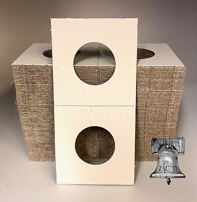 "50 Cardboard 2 x 2 Coin Holder Mylar Flips for US Quarters 24.3mm or .956/"""