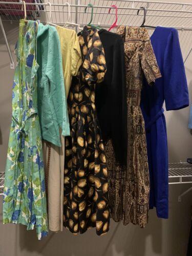 Vintage womens dress lot 50's/60's/70's