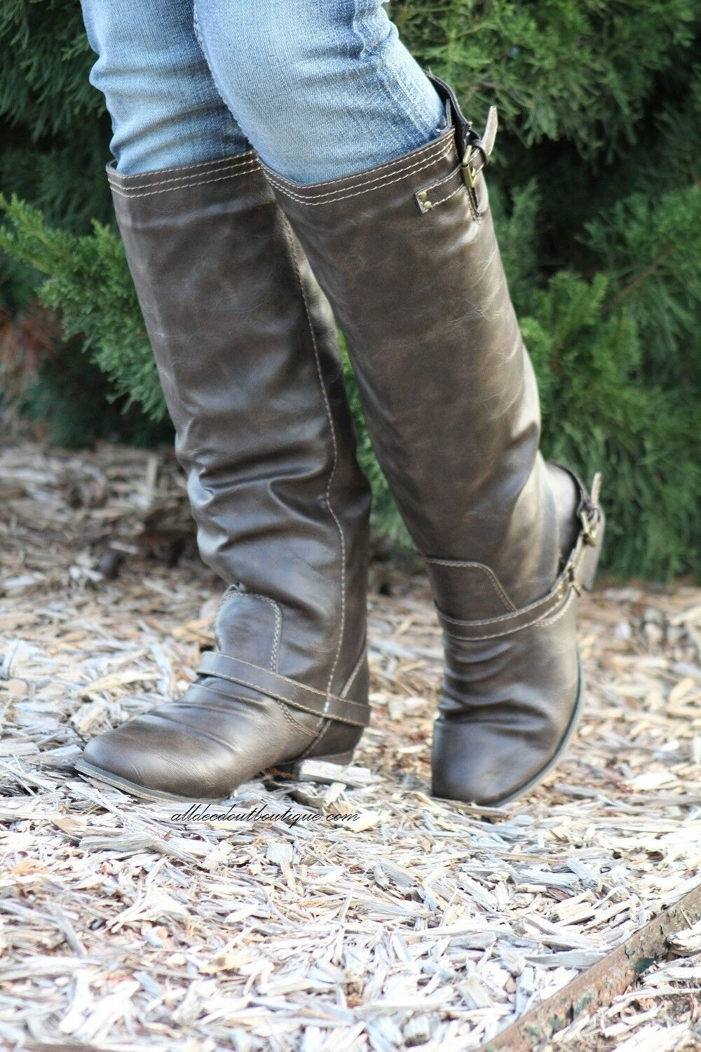 Breckelle's   Outlaw Two Tone Brown Riding Boots