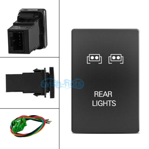 """1.28/"""" x 0.87/"""" Push On Off Switch White LED Rear Lights For Toyota 100 series KL"""
