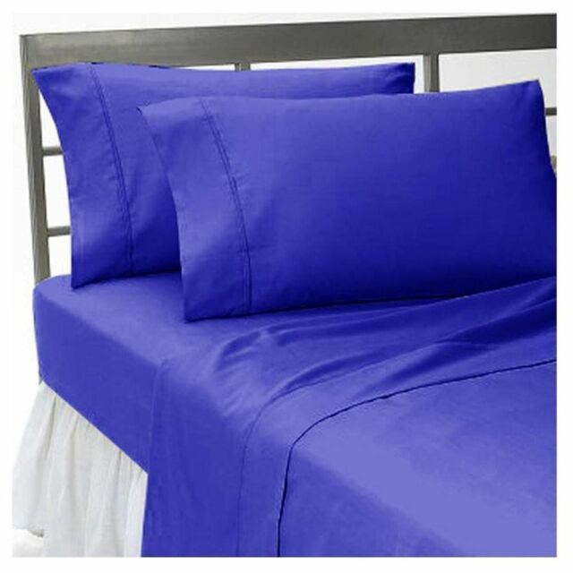BEDDING ITEMS 1000 TC EGYPTIAN COTTON US KING/CAL KING SIZE EGYPTIAN BLUE SOLID