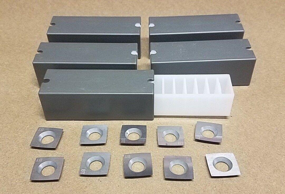 Lot of (50) Byrd Shelix Cutterhead 4 sided Carbide Insert Cutters - USA