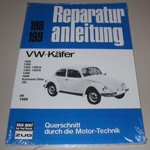 Guía de reparación VW Escarabajo 1200 1300 1302 s 1303 1500 1600 181 Karmann Ghia nuevo