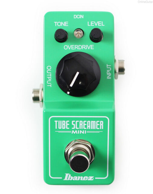 NEW IBANEZ TS MINI TUBE SCREAMER OVERDRIVE PEDAL w/ FREE CABLE 0$ US SHIPPING