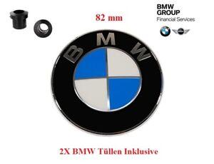 1X-Original-BMW-Emblem-Motorhaube-82mm-inkl-Tuellen-E30-E34-E36-E39-E60-E61