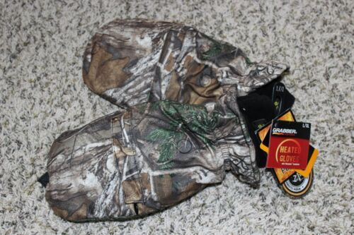 NEW Realtree Camo Insulated Gloves Mittens Combo L//XL Grabber Warmers Heated