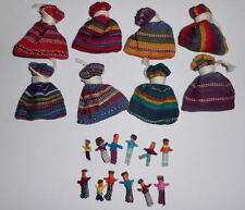 12x Pouches of 6x WORRY DOLLS - Hand Made in Guatemala - Bulk Wholesale Lot!