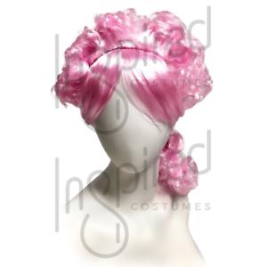 WOMENS LADIES Pink WIG FANCY DRESS COSPLAY Anne Wheeler Greatest Show COSTUME UK
