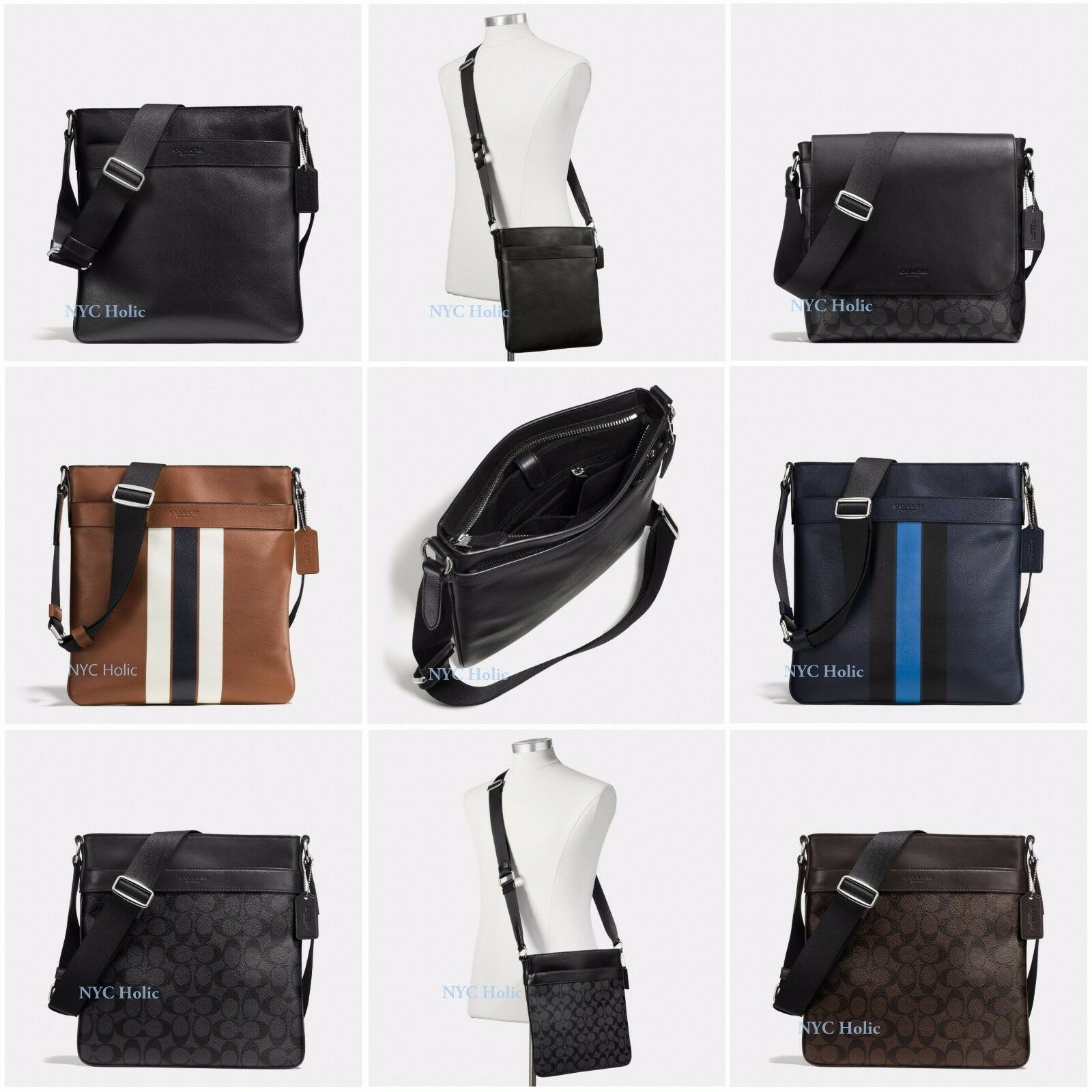 2201f0e110a9 Details about New Coach F54193 Mens Charles Crossbody Bag F54781 F54780 NWT