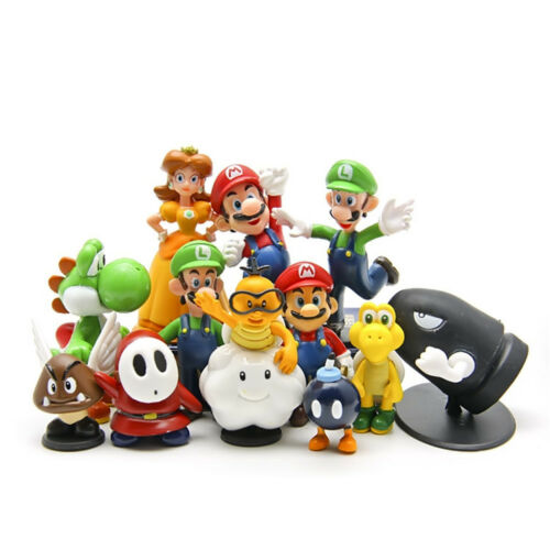 12 PCS Super Mario Luigi Princess Yoshi Flying Goomba Action Figure Doll Toys US