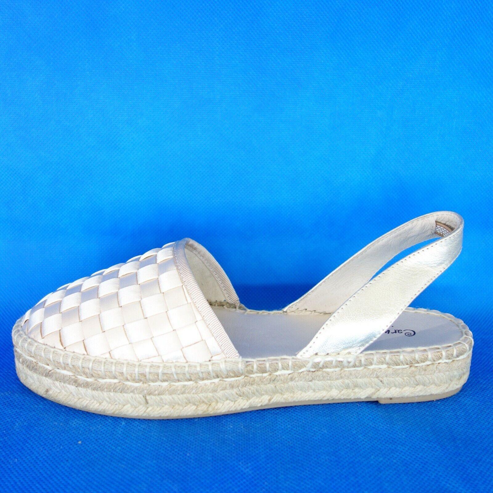 encuentra tu favorito aquí Carmen Saiz Sandalias Zapatos de las Señoras Señoras Señoras Alpargatas Gr 36 37 38 39 40 Cuero  artículos de promoción