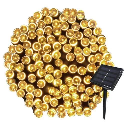 Natale Luci Giardino Solare 72ft 20m 200 LED 8 modalità Caldo Bianco Lucine