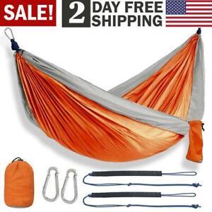 Enjoy Portable Parachute Nylon Fabric Travel Camping Hammock For Double Two