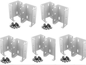 10 Pc Aluminum Rail Bracket For Vinyl Fencing Secure