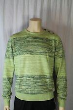 Fenchurch Mens Green Twister Stripe Round Neck Jumper Size Medium (F2)