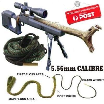 Bore Cleaning Snake .556mm Calibre Brush hunting Kit gun rifle pistol Cal