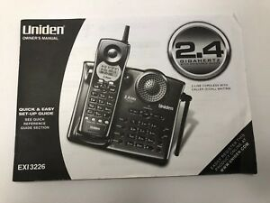 OWNERS-MANUAL-ONLY-Uniden-2-4G-EXI3226-for-Cordless-2Line-Speaker-Dial-Telephone