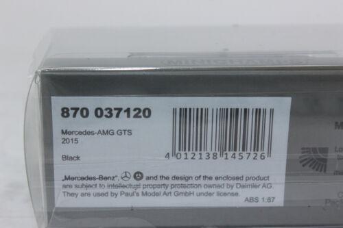 Minichamps 870037120 MERCEDES AMG GTS NERO 2015 1:87 h0 NUOVO IN SCATOLA ORIGINALE