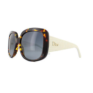 a basso prezzo 79b12 59c51 Dettagli su Dior Occhiali da Sole Dior Donna Lady1s 04i HD Havana Bianco  Grigio Fumè